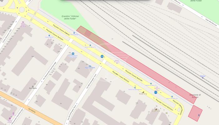 Nuovo percorso pedonale e pista ciclabile nell'area della Stazione ferroviaria