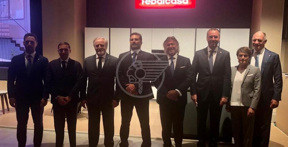 Gruppo Colombini al Salone del Mobile: taglio del nastro di due Segretari di Stato