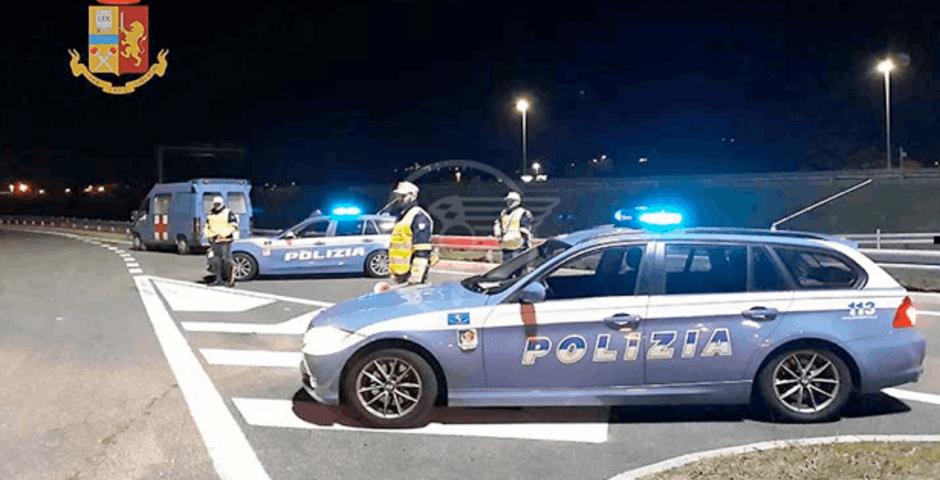 Sorpasso azzardato, guida ubriaco e senza patente e fugge alla Polizia: denuncia e quasi 8mila euro di multa