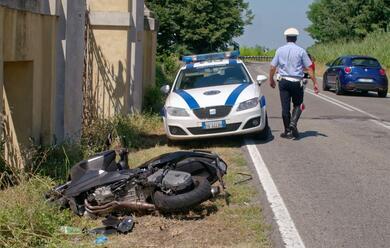 Immagine News - ravenna-scooter-finisce-a-terra-dopo-lo-scontro-on-il-trattore