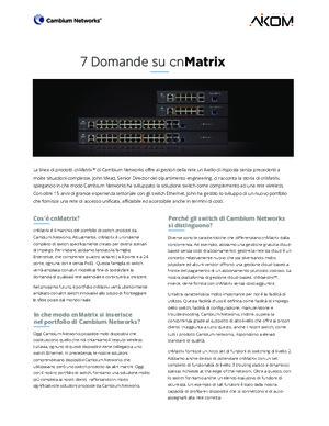 7 Questions about cnMatrix