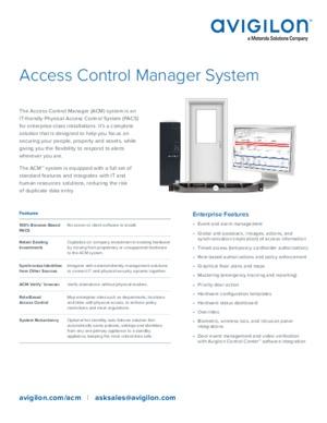 Avigilon Access Control Manager System