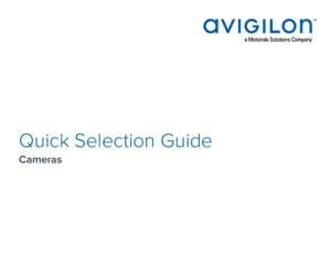 Quick Selection Guide Cameras