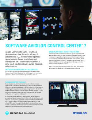 Avigilon Control Center 7 flyer