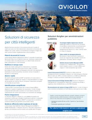 Avigilon Solutions for Government