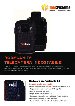 Bodycam professionale TeloCam T6