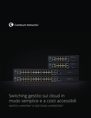 cnMatrix Switches and cnMaestro Management