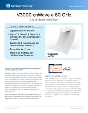 cnWave V3000 60 GHz data sheet