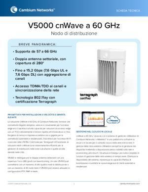 cnWave V5000 60 GHz data sheet