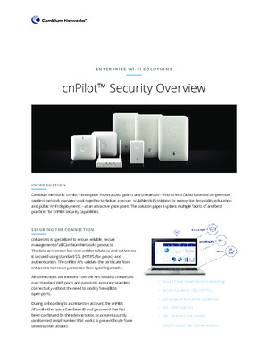 cnPilot Security Overview