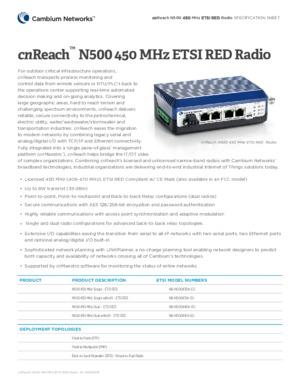 cnReach 450 Spec Sheet