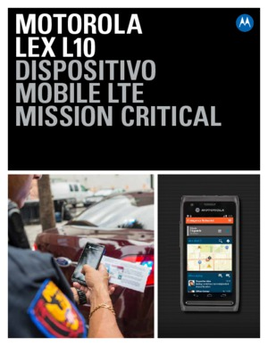 LEX L10 Mission Critical LTE Handheld Data Sheet