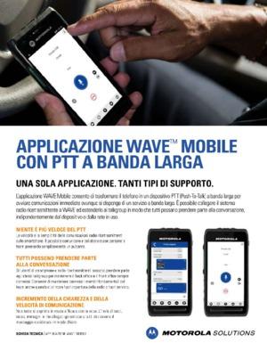 Applicazione WAVE Mobile con PTT a Banda Larga