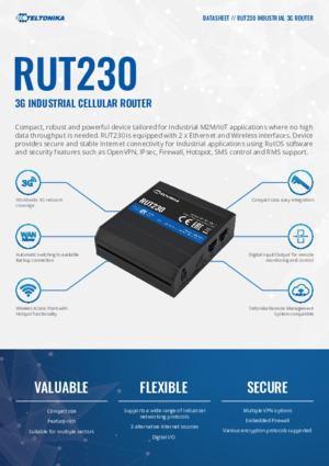 RUT230 Router datasheet