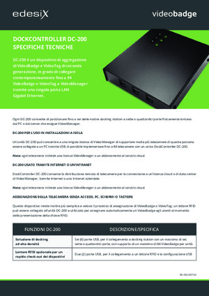 DC-200 Specification Sheet