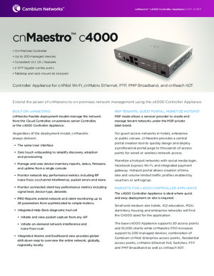 cnMaestro c4000 Data Sheet