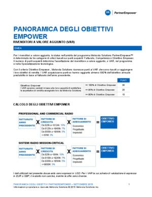 Motorola Solutions PartnerEmpower goal overview
