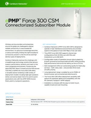 ePMP Force 300 CSM spec sheet