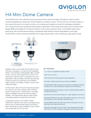 H4 Mini Dome Camera Datasheet