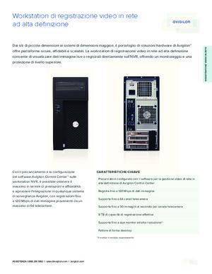 HD NVR Workstation data sheet