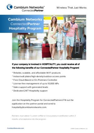 Hospitality Program Flyer
