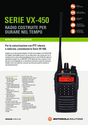 VX-450 Series spec sheet
