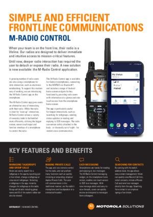 M-Radio Control app datasheet