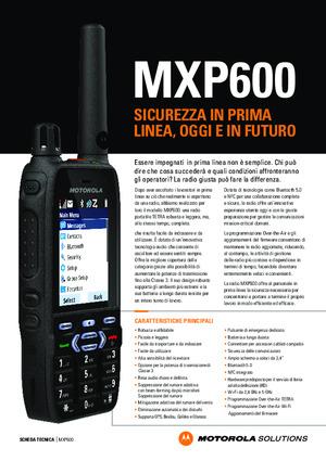 MXP600 Specifiche tecniche
