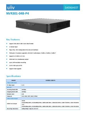 4-CH SATA NVR Plug & Play
