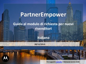 Motorola Solutions PartnerEmpower application guide