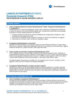 Motorola Solutions PartnerEmpower FAQ