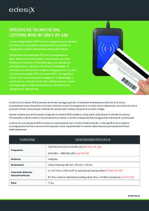 RFID-Reader Specification Sheet