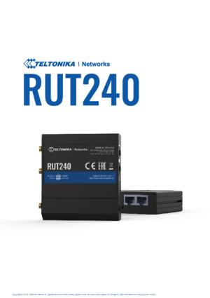 RUT240 Router datasheet