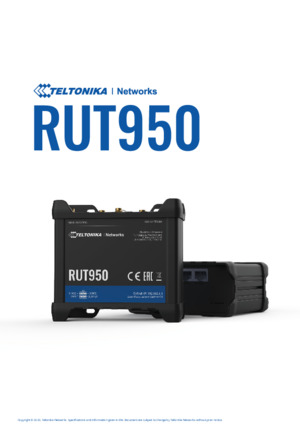 RUT950 Router datasheet