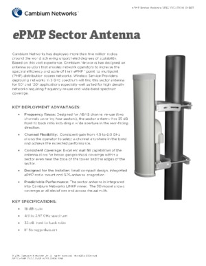 ePMP Sector Antenna Spec Sheet