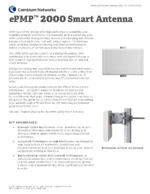 ePMP 2000 Smart Antenna Spec Sheet