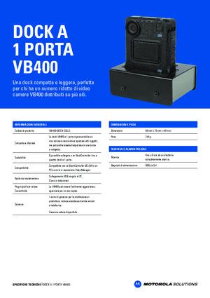 VideoBadge VB-400 1-port dock specsheet