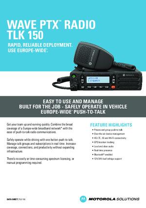 WAVE PTX TLK 150 DataSheet