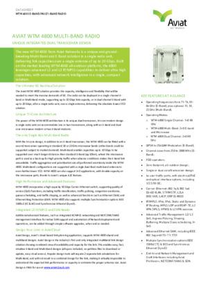 WTM 4800 Short-Form Datasheet